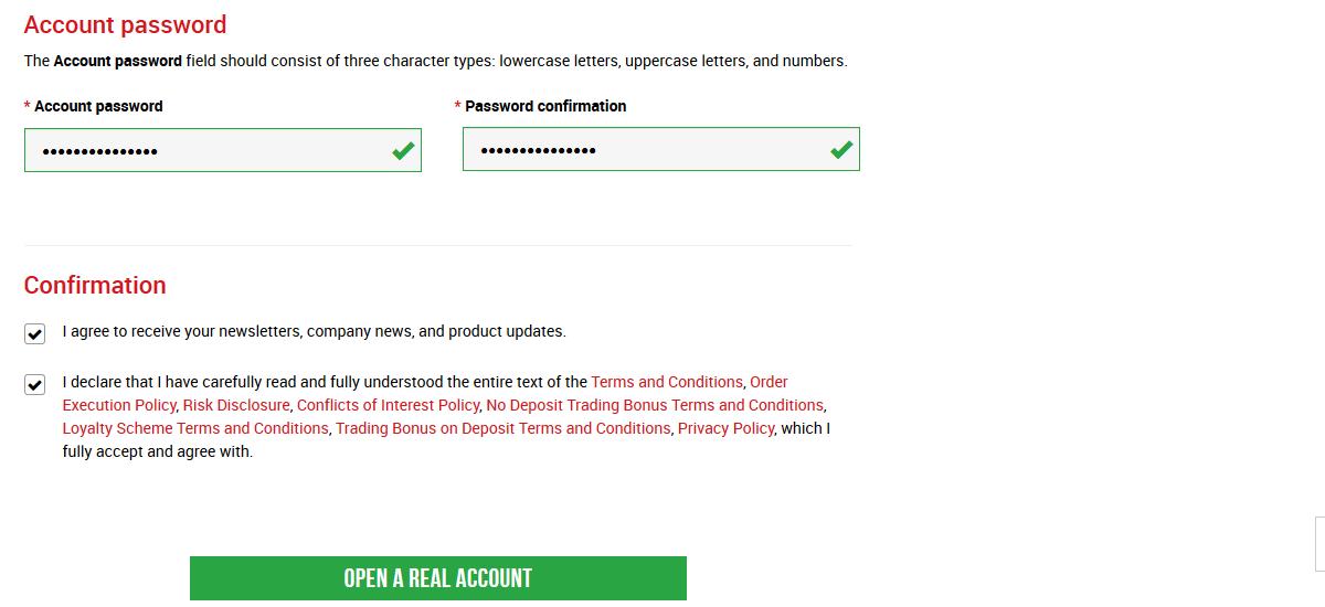 XM Trading Account Password