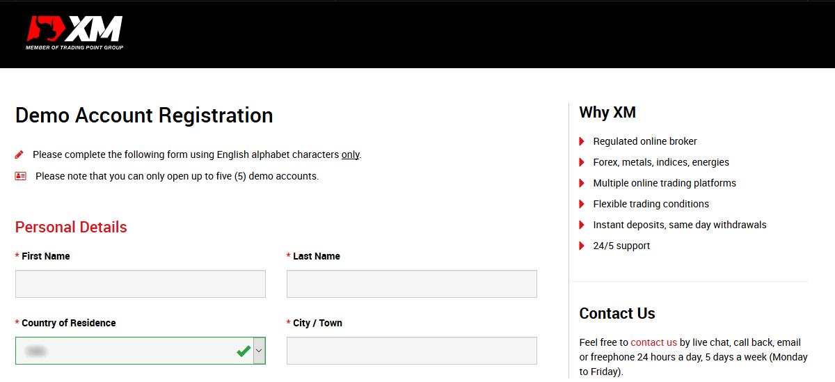 XM Broker Demo Account Registration