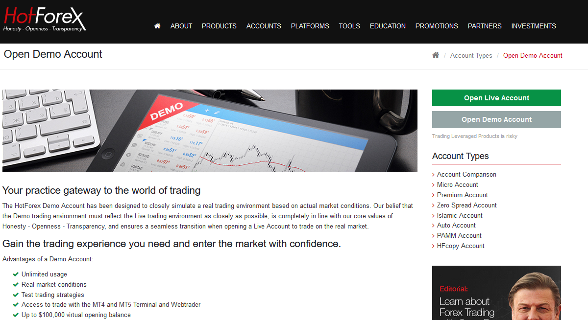 Hot forex demo