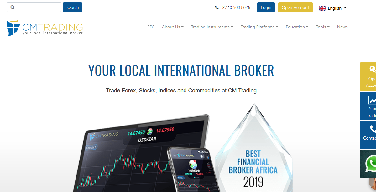 CM Trading Open Account