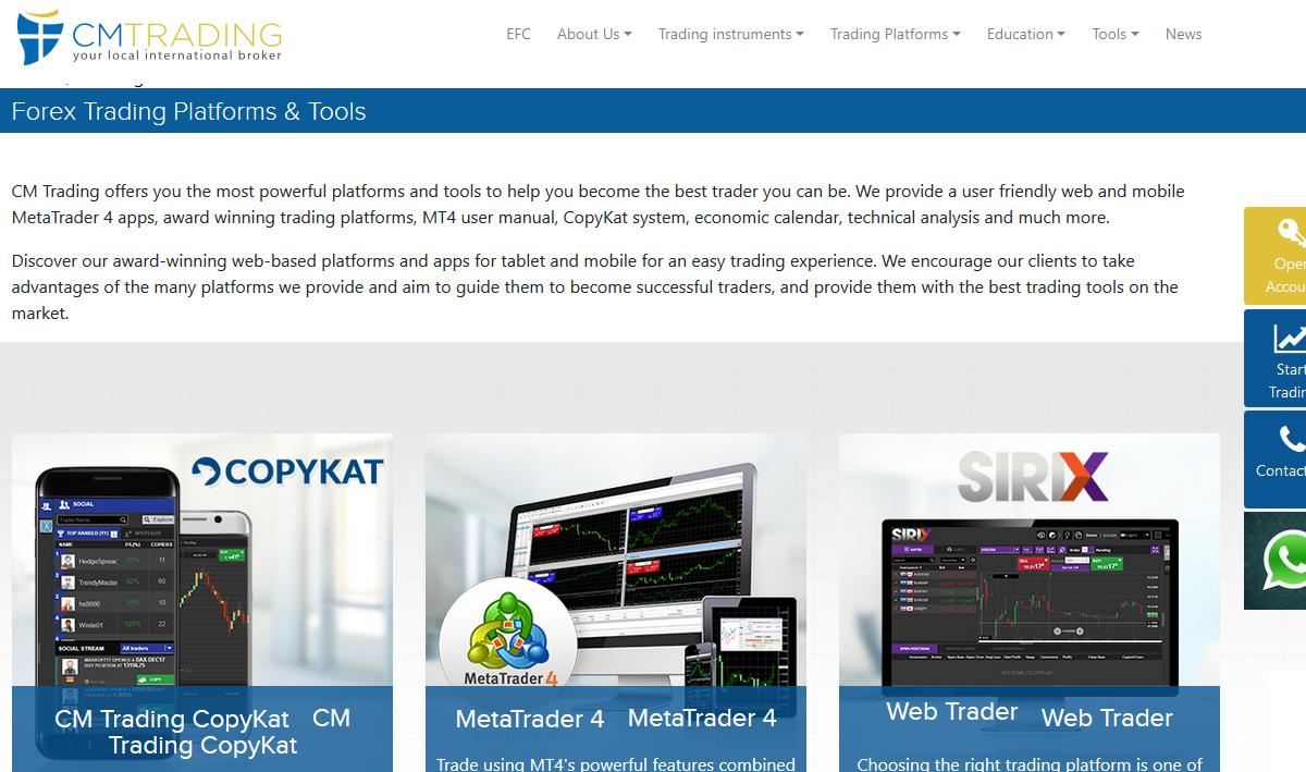 CM Trading Platforms