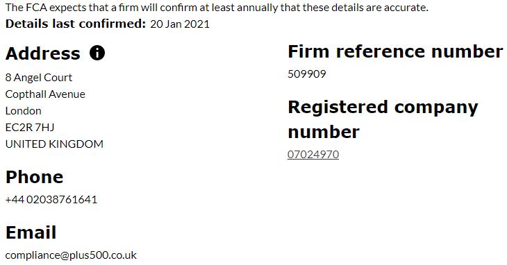 Plus500UK Ltd FCA Regulation