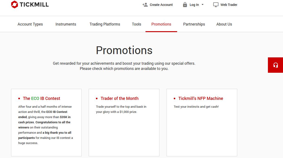 Tickmill Bonus & Promotions
